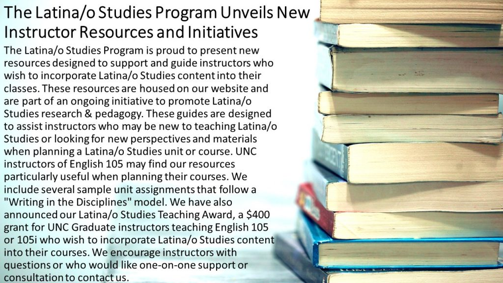 The Latina/o Studies Program Unveils New Instructor Resources and Initiatives